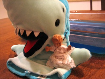 Baby J and his shark buddy